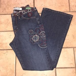 Jeanstar Mercury Embroidered Flare Jeans